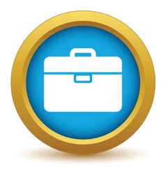 Gold bag icon vector image