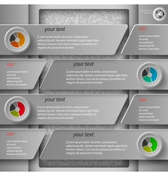 Gray paper infographics1 vector