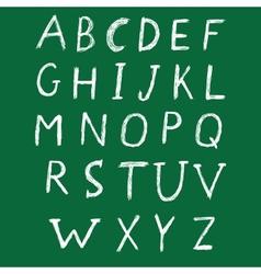 Hand drawn alphabet design vector image