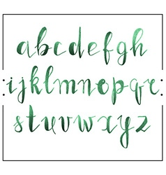 Handwritten calligraphic font alphabet written by vector image