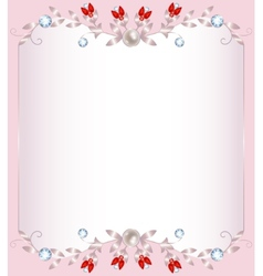 Jeverly frame vector image vector image