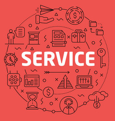 linear service vector image