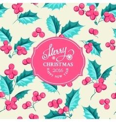Mistletoe holiday card vector
