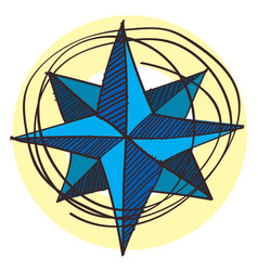 navigator of the compass wind rose icon with a vector image vector image