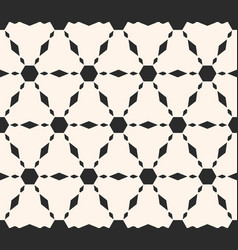 ornamental pattern repeat tiles hexagons vector image vector image