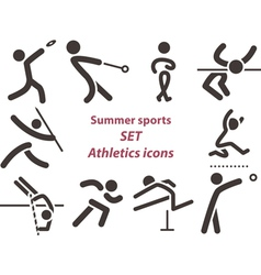Set of athletics icons vector image