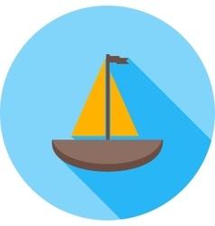 Small yacht vector