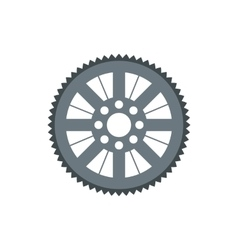 Sprocket for bicycle icon flat style vector image vector image