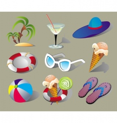 summer beach travel clip art vector image vector image