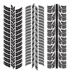 various tyre treads vector image