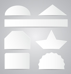 White Paper Shapes vector image vector image