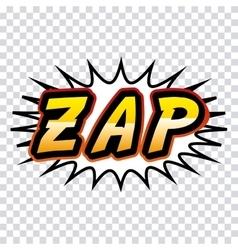 zap comic pop art style vector image vector image
