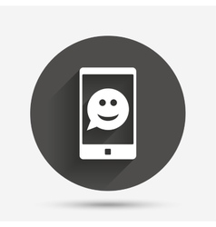 Selfie smile face sign icon self photo symbol vector