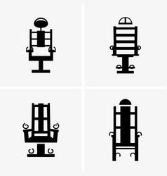 Electric chairs vector