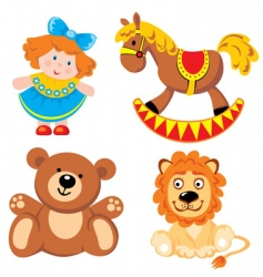Children's toys vector image