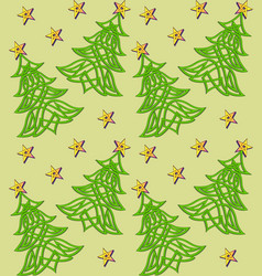 Festive background with christmas tree of celtic vector