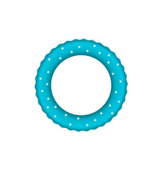 Blue pool ring with white dots vector