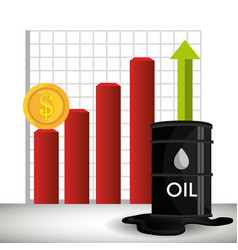 Oil prices infographics icon vector