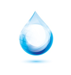 Water drop isolated symbol abstract icon vector