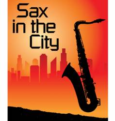 Sax city vector