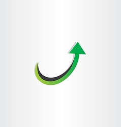 Arrow up growing icon vector