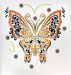 Embroidery butterfly vector