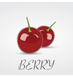 Berry cherry logo design vector