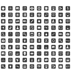 Arrow icon set rounded square vector