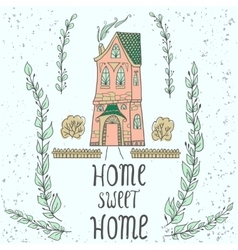 Sweet home background with twigs vector