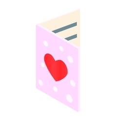 Greeting card isometric 3d icon vector