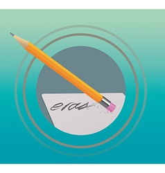 Pencil eraser vector