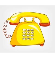 cartoons phone vector image