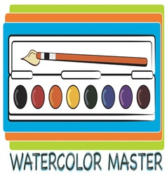 Watercolor master vector