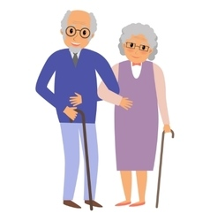 Happy grandparents couple vector