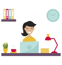 Girl in office vector