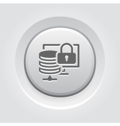 Secure storage icon flat design vector