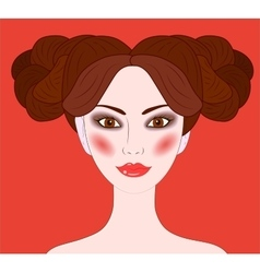 Aries beautiful girl vector