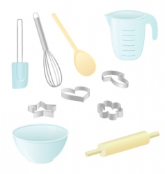 baking utensils vector image vector image