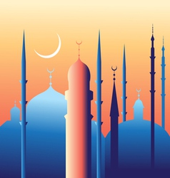 Beautiful mosques and minarets vector