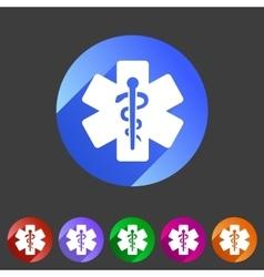 Blue medical icon flat web sign symbol logo label vector
