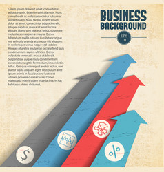 Business background with arrows vector