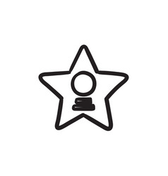 Cinema star sketch icon vector