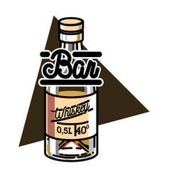 Color vintage bar emblem vector