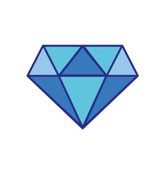 Colorful beauty luxury diamond gen accessory vector