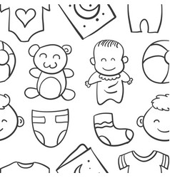 doodle of baby element vector image vector image