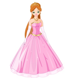 Fairytale princess vector image