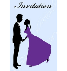 funky wedding invitation vector image vector image