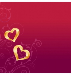 gold hearts vector image