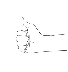 hitchhiking hand sign vector image