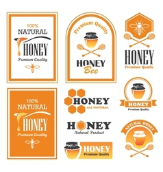 Honey labels vector image vector image